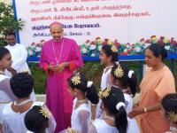 Bischof Arulselvam Rayappan besucht erstmalig Einrichtungen in seinem neuen Bistum Salem (2)