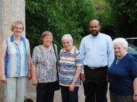 Besuch von Pfarrer Roy in Sailauf im  Juli 2008